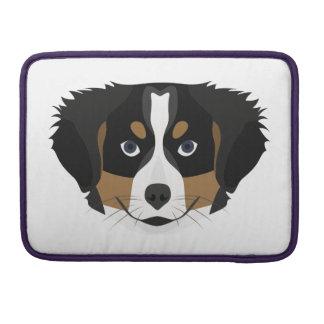 Illustration Bernese Mountain Dog Sleeve For MacBooks