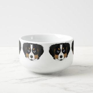 Illustration Bernese Mountain Dog Soup Mug