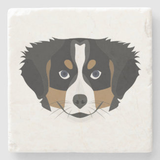 Illustration Bernese Mountain Dog Stone Coaster