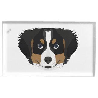 Illustration Bernese Mountain Dog Table Card Holder