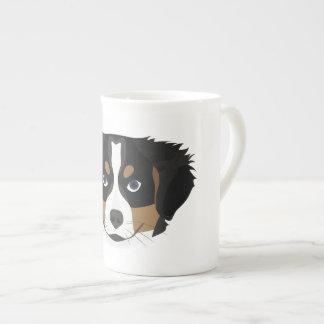 Illustration Bernese Mountain Dog Tea Cup