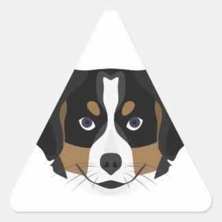 Illustration Bernese Mountain Dog Triangle Sticker