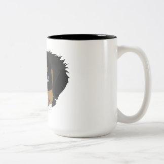 Illustration Bernese Mountain Dog Two-Tone Coffee Mug