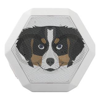 Illustration Bernese Mountain Dog White Bluetooth Speaker