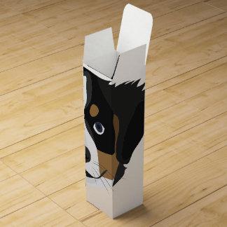 Illustration Bernese Mountain Dog Wine Gift Box