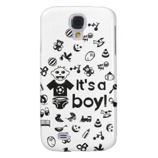 Illustration black IT'S A BOY! Galaxy S4 Case