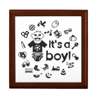 Illustration black IT'S A BOY! Gift Box