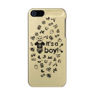 Illustration black IT'S A BOY! Incipio Feather® Shine iPhone 5 Case