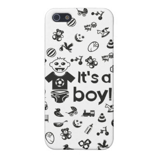 Illustration black IT'S A BOY! iPhone 5 Case