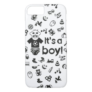 Illustration black IT'S A BOY! iPhone 8/7 Case