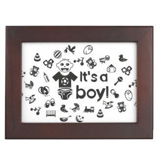 Illustration black IT'S A BOY! Keepsake Box