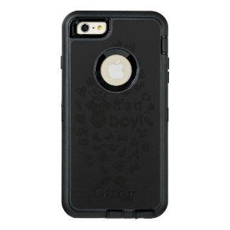 Illustration black IT'S A BOY! OtterBox Defender iPhone Case
