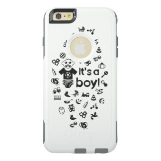 Illustration black IT'S A BOY! OtterBox iPhone 6/6s Plus Case
