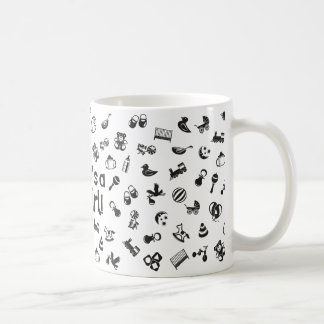Illustration black IT'S A GIRL! Coffee Mug