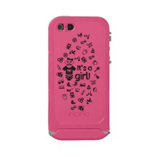 Illustration black IT'S A GIRL! Incipio ATLAS ID™ iPhone 5 Case