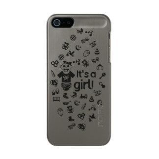 Illustration black IT'S A GIRL! Incipio Feather® Shine iPhone 5 Case