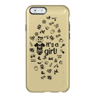 Illustration black IT'S A GIRL! Incipio Feather® Shine iPhone 6 Case