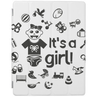 Illustration black IT'S A GIRL! iPad Cover