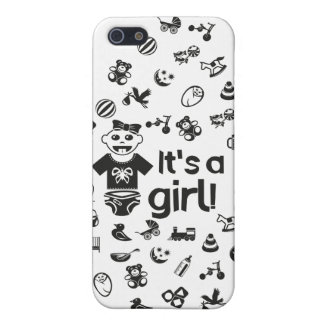 Illustration black IT'S A GIRL! iPhone 5 Covers