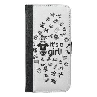 Illustration black IT'S A GIRL! iPhone 6/6s Plus Wallet Case