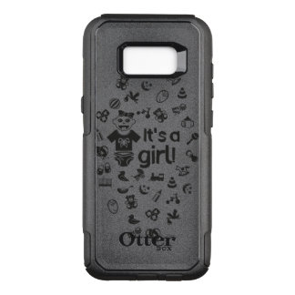 Illustration black IT'S A GIRL! OtterBox Commuter Samsung Galaxy S8+ Case