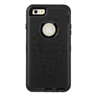 Illustration black IT'S A GIRL! OtterBox Defender iPhone Case