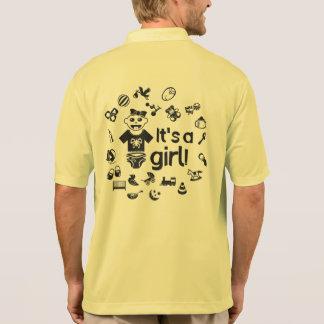 Illustration black IT'S A GIRL! Polo Shirt