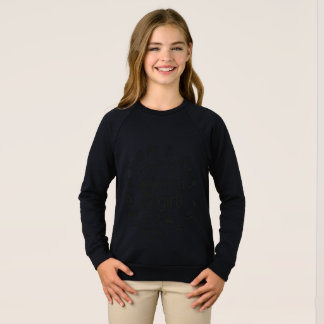 Illustration black IT'S A GIRL! Sweatshirt
