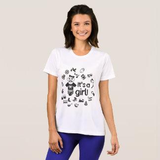 Illustration black IT'S A GIRL! T-Shirt