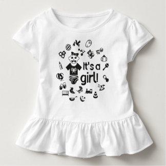 Illustration black IT'S A GIRL! Toddler T-Shirt