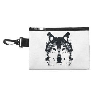 Illustration Black Wolf Accessory Bag