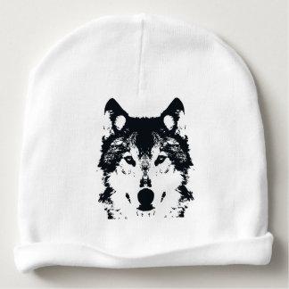 Illustration Black Wolf Baby Beanie