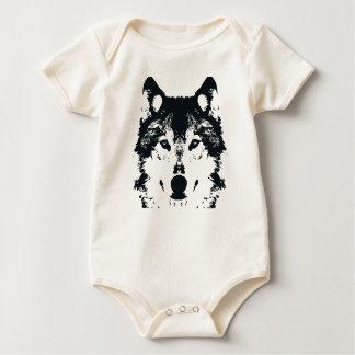 Illustration Black Wolf Baby Bodysuit