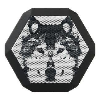 Illustration Black Wolf Black Bluetooth Speaker
