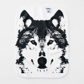 Illustration Black Wolf Burp Cloth