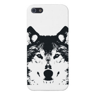 Illustration Black Wolf Case For The iPhone 5