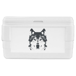 Illustration Black Wolf Chest Cooler