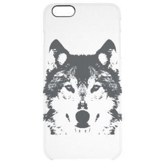 Illustration Black Wolf Clear iPhone 6 Plus Case