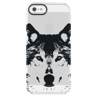 Illustration Black Wolf Clear iPhone SE/5/5s Case