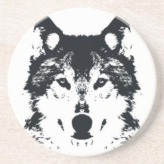Illustration Black Wolf Coaster