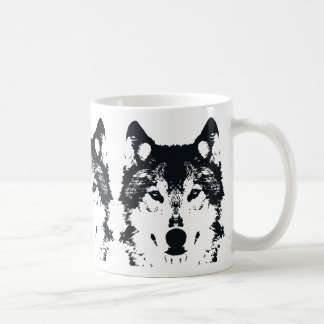 Illustration Black Wolf Coffee Mug