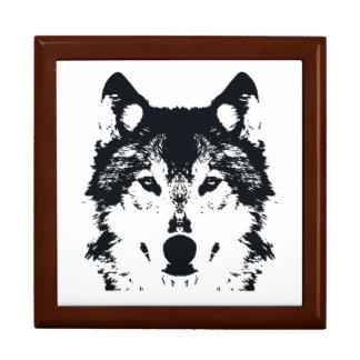 Illustration Black Wolf Gift Box
