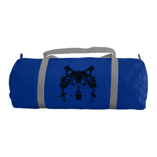 Illustration Black Wolf Gym Bag