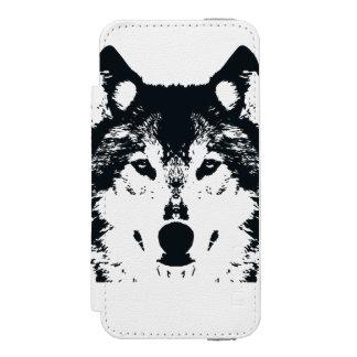 Illustration Black Wolf Incipio Watson™ iPhone 5 Wallet Case
