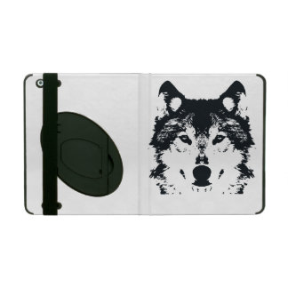 Illustration Black Wolf iPad Case