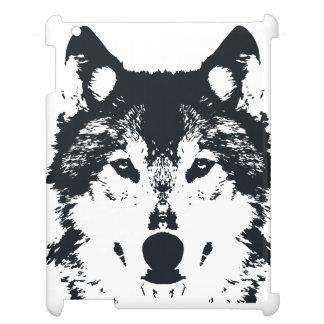 Illustration Black Wolf iPad Cover