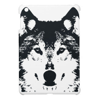 Illustration Black Wolf iPad Mini Case