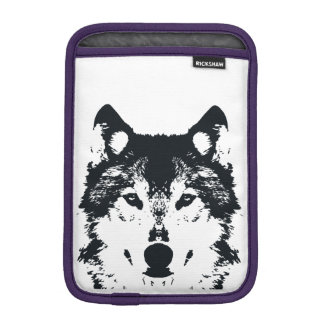 Illustration Black Wolf iPad Mini Sleeve