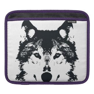 Illustration Black Wolf iPad Sleeve