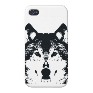 Illustration Black Wolf iPhone 4/4S Cover